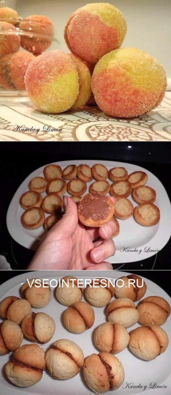 """Просто царь выпечки! Пирожное """"Персики"""". Минутный рецептик! Гостей не оттянуть от такой вкусняшки."""
