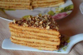 Шикарный торт медовик со сгущенкой
