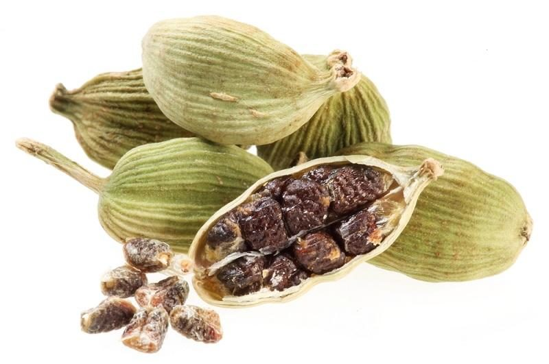 cardamom-seeds-on-a-white-background