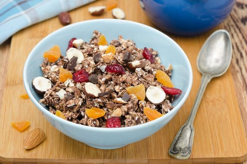 chocolate-granola-with-nuts-and-dried-fruit-horizontal-top-view